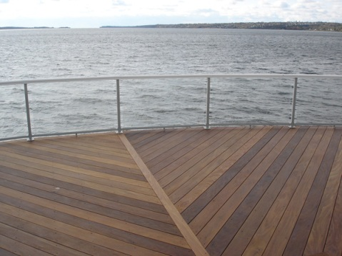 Rhode Island endless deck looking over water ocean
