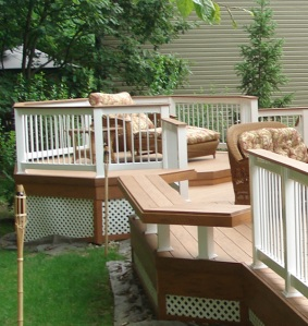 Archadeck deck in TimberTech teak by Jim Hilliard of Archadeck Pittsburgh