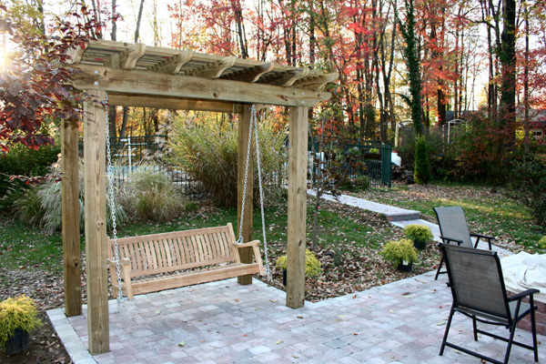 pergola porch swing plans