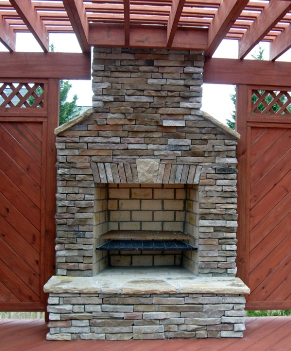 Stone Fireplace Next To The Outdoor Kitchen And A Lovely: Outdoor Life IS Good With An Outdoor Fireplace On Your
