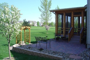 Cedar screened porch in Ankeny Iowa