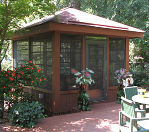 How about a detached screen porch via archadeck custom for Detached screened porch