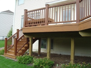 TimberTech Earthwood Tropical Teak Deck by Harold Cross of Archadeck of Des Moines