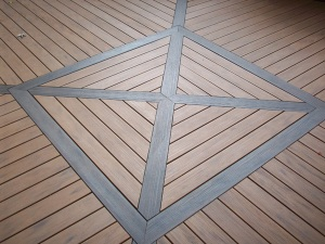 TimberTech inlay for rounded deck