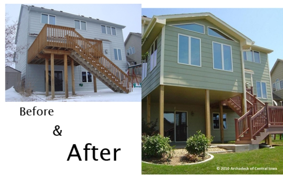 Des Moines 2nd story deck conversion into sunroom