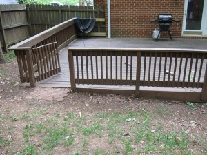 Charlotte deck - before picture