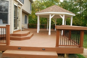 New large deck with a gazebo