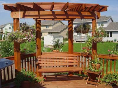 Outdoor Swing Pergola Designs