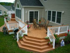 Archadeck tiered composite deck