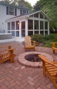 Outdoor fire pits as well as outdoor fireplaces are a wonderful addition to any backyard