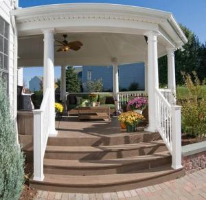 Beautiful covered porch by Archadeck