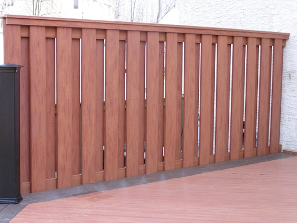 Composite wood privacy fence Chester County PA
