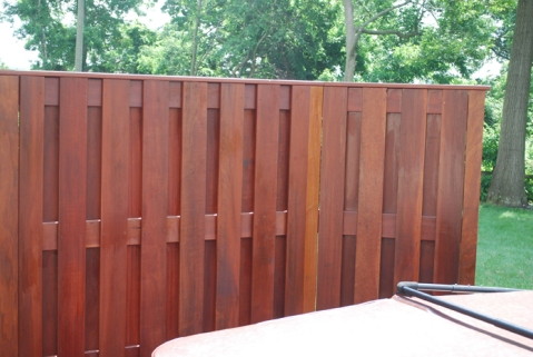 Hardwood privacy fence