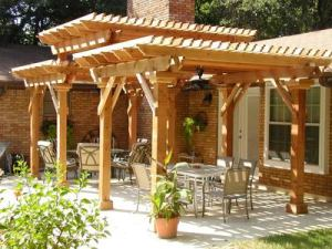 This beautiful tri-level pergola is an example of what your outdoor space could be