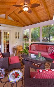 Screened porches such as this by Archadeck can keep out the bugs and the sun