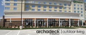 Pergola by Archadeck of Des Moines for Holiday Inns & Suites of West Des Moines