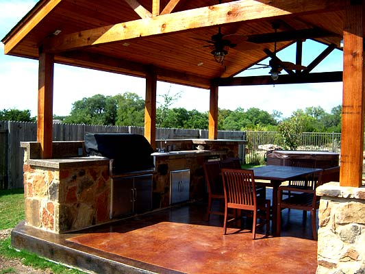 Detached patio cover by Archadeck of Austin