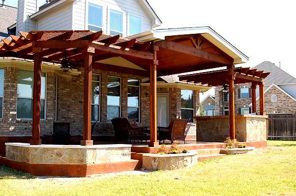 Bon Austin Concrete Patio With Pergola And Patio Cover
