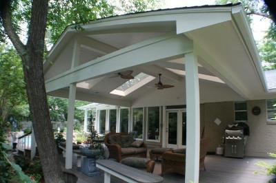 Fort worth covered patio w skylights