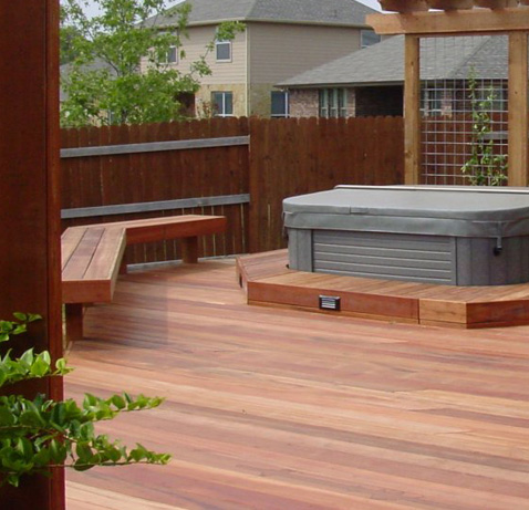 Archadeck invites you take the plunge with a stunning hot for Hot tub deck plans
