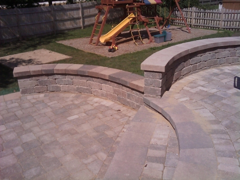 Libertyville multi-level patio by Archadeck of Chicagoland