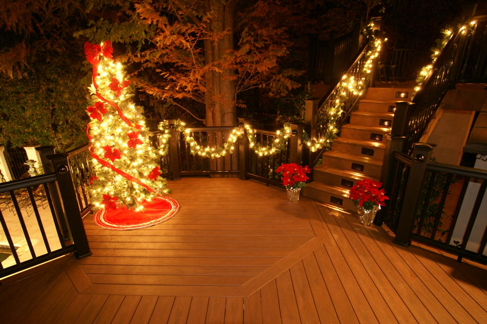 Put a little holiday in your step with a new deck by for Patios decorated for christmas