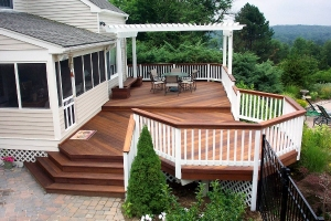 This multi-level Archadeck deck is the perfect place to entertain friends and family