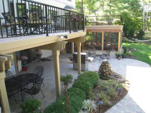 Staged Building - porch, patio and deck