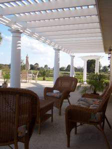 Outdoor Living Room - Pergola