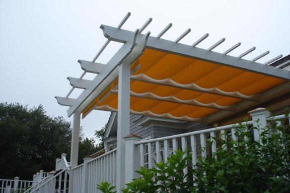 Pergola with awning