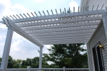 Pergolas help define outdoor living spaces