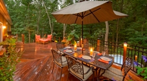Outdoor Dining and Living Rooms on Deck