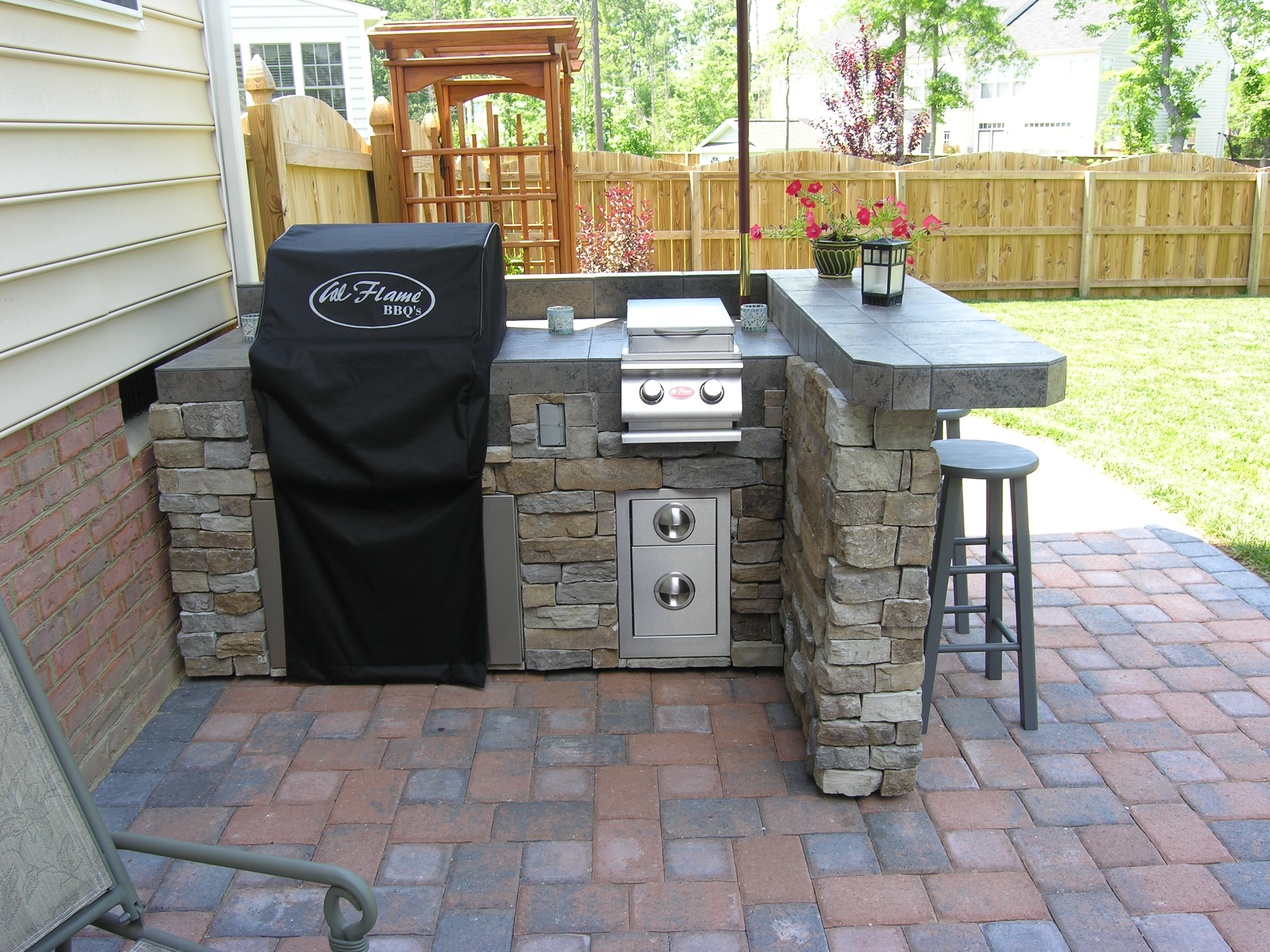 Outdoor kitchens archadeck custom decks patios sunrooms and porch ...
