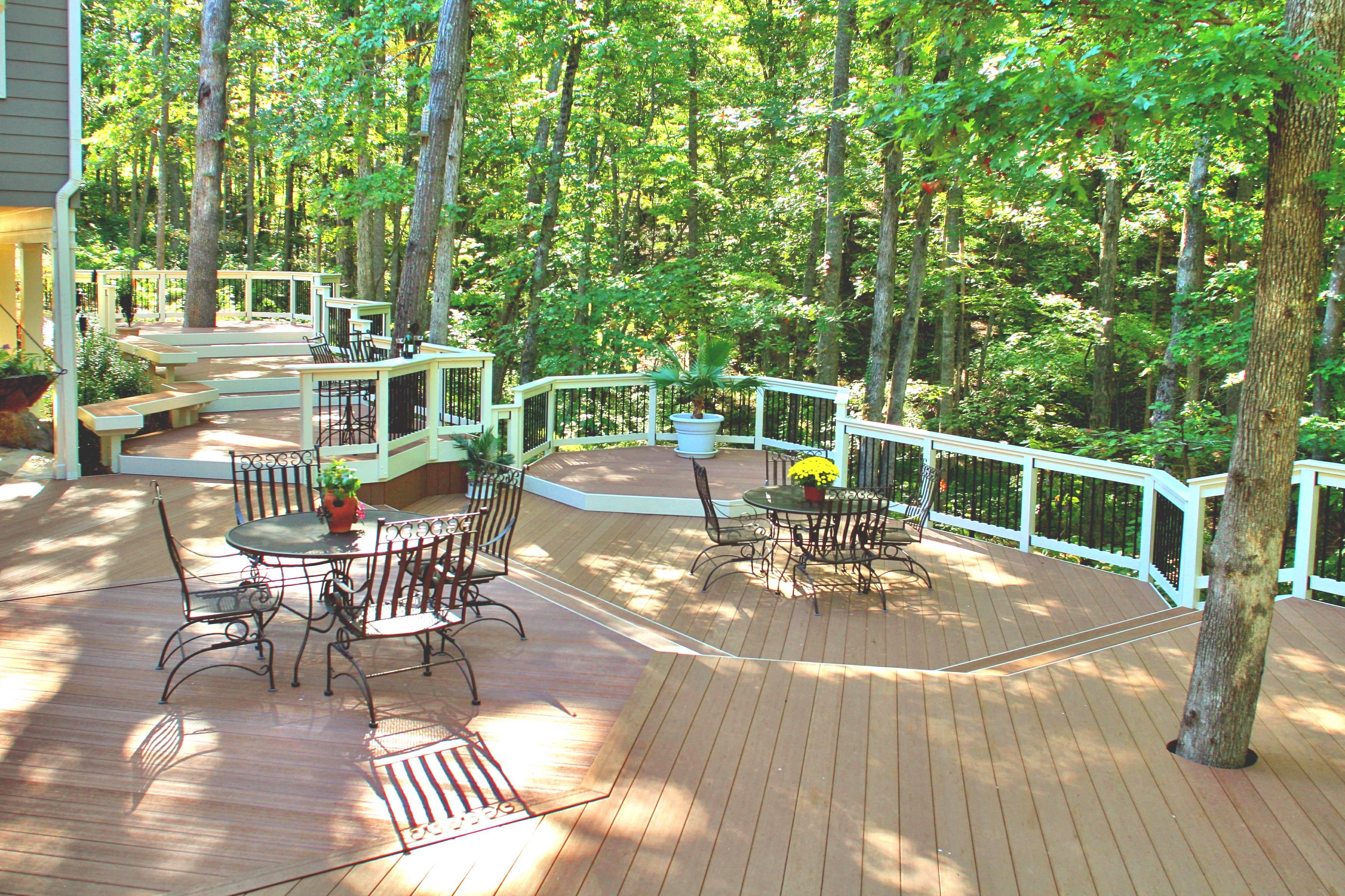 trees in deck design archadeck custom decks patios sunrooms