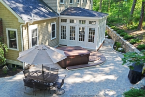 Patio, deck and sunroom combo