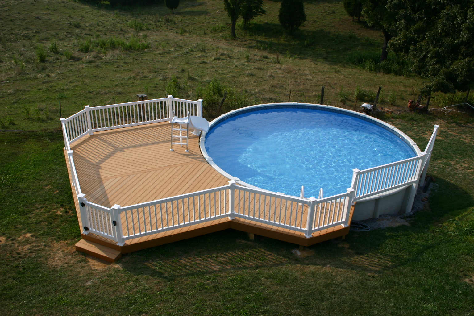 Pdf plans wood pool deck plans download how to paint wood - Images of above ground pools ...