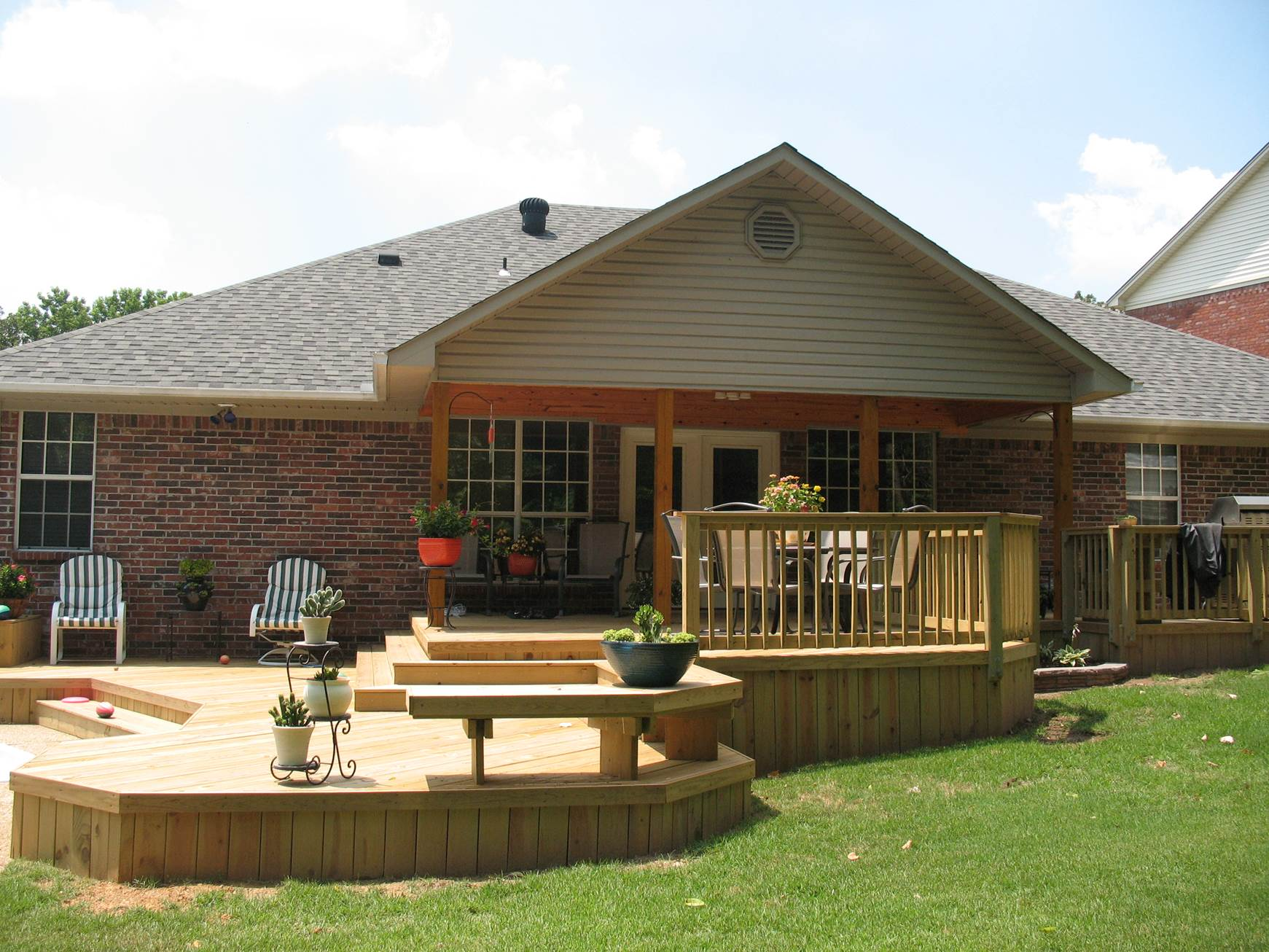 Multi Level Backyard Decks : MultiLevel Deck Opens Up Yard in Arkansas