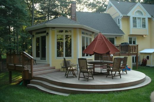 Devonwood CT Ipe deck and custom sunroom addition - Copy