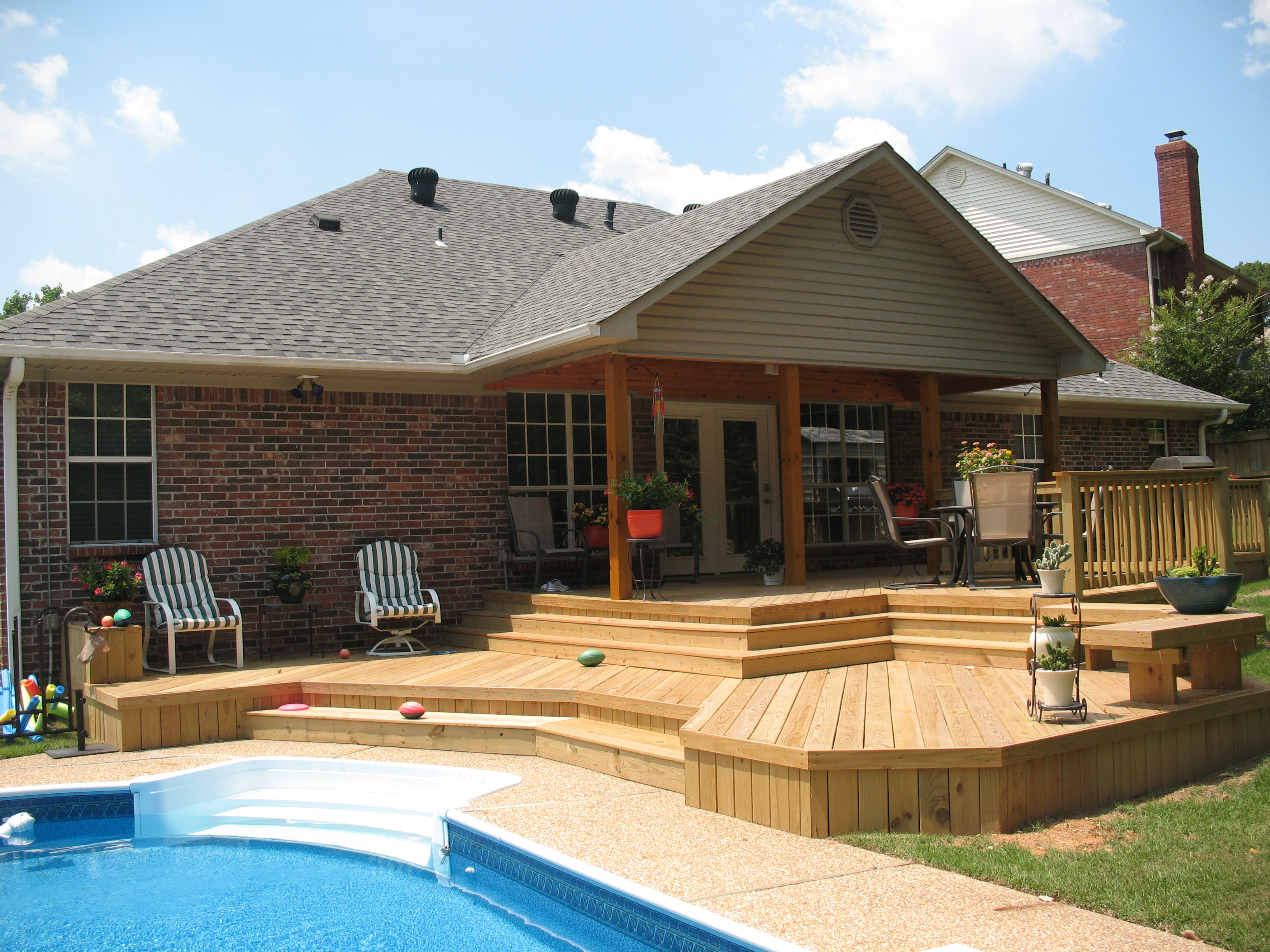 Backyard Pool Deck Ideas deck designs: pool and deck design ideas