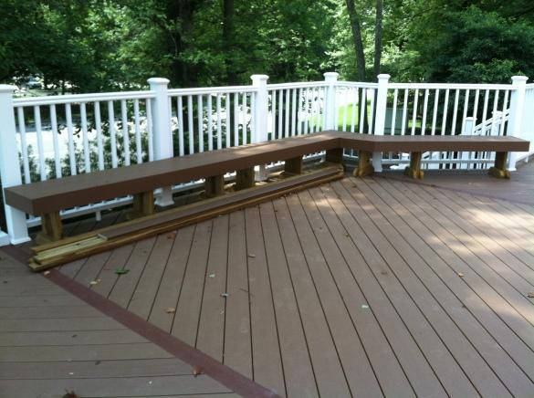 redwood bench design
